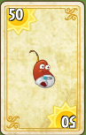 Chili Bean Costume Card