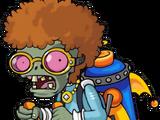 Disco-Raketenrucksack-Zombie
