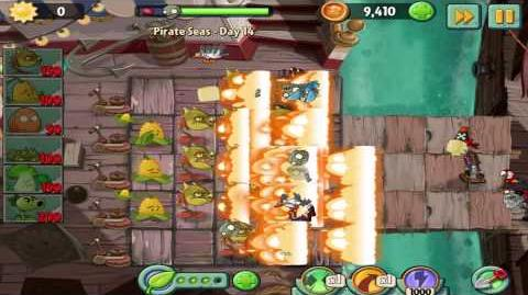Plants vs Zombies 2 Pirate Seas Day 14 Walkthrough-0