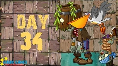 Plants vs. Zombies 2 - Pirate Seas Day 34