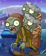 Peasant Zombie + 2 Imp Monk Zombies