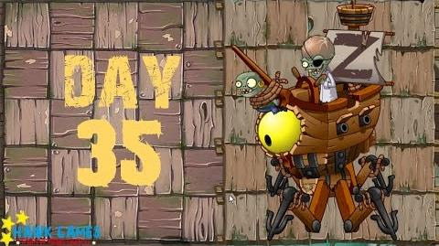 Plants vs. Zombies 2 - Pirate Seas Day 35 BOSS Zombot Plank Walker 2.0