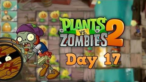 Plants vs Zombies 2 Pirate Seas Day 17 Walkthrough