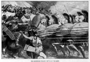800px-The Macedonian phalanx counter-attacks during the battle of the carts