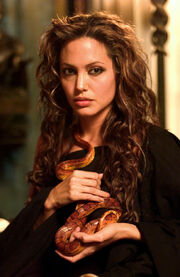 Angelina Jolie as Queen Olympias