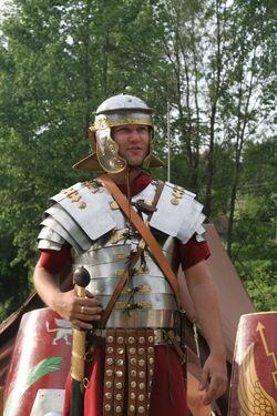 Roman soldier in lorica segmentata 1