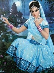 Indian women paintings 4 crcdX 6943