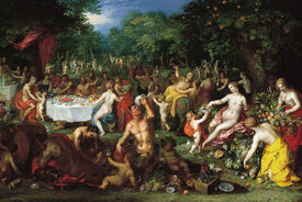 A Bacchanal by Jan Brueghel the Elder and Hendrik van Balen I, ca. 1608 - 1616. Speed Art Museum