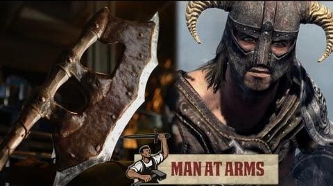 Orcish Battleaxe (Skyrim) - MAN AT ARMS
