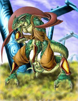 DnD Lizard Monk by ArtisanAlex