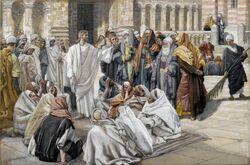 Brooklyn Museum - The Pharisees Question Jesus (Les pharisiens questionnent Jésus) - James Tissot