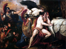 Thetis Bringing Armor to Achilles by Benjamin West ca 1806