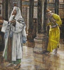 Tissot-The-Pharisee-and-publican-Brooklyn-Museum-Wikimedia-US-public-domain