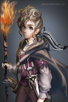 Halfling warlock sylvia by sakuyasworld-d724rd4