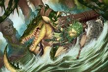 Werecroc attack by daveallsop-d59ijxv