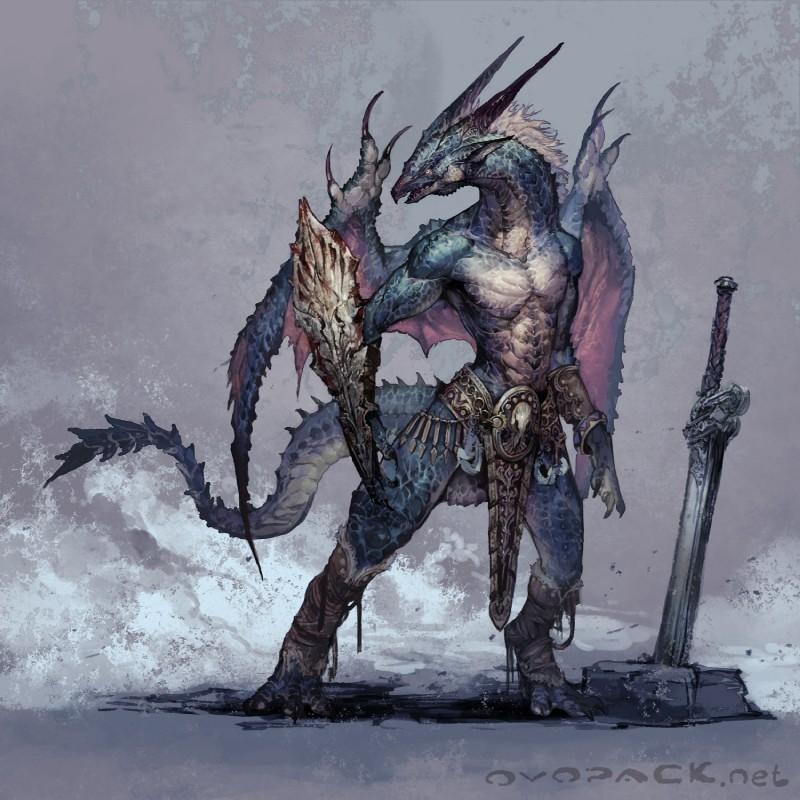 Half Human Half Wolf Male Half-Dragon | P...