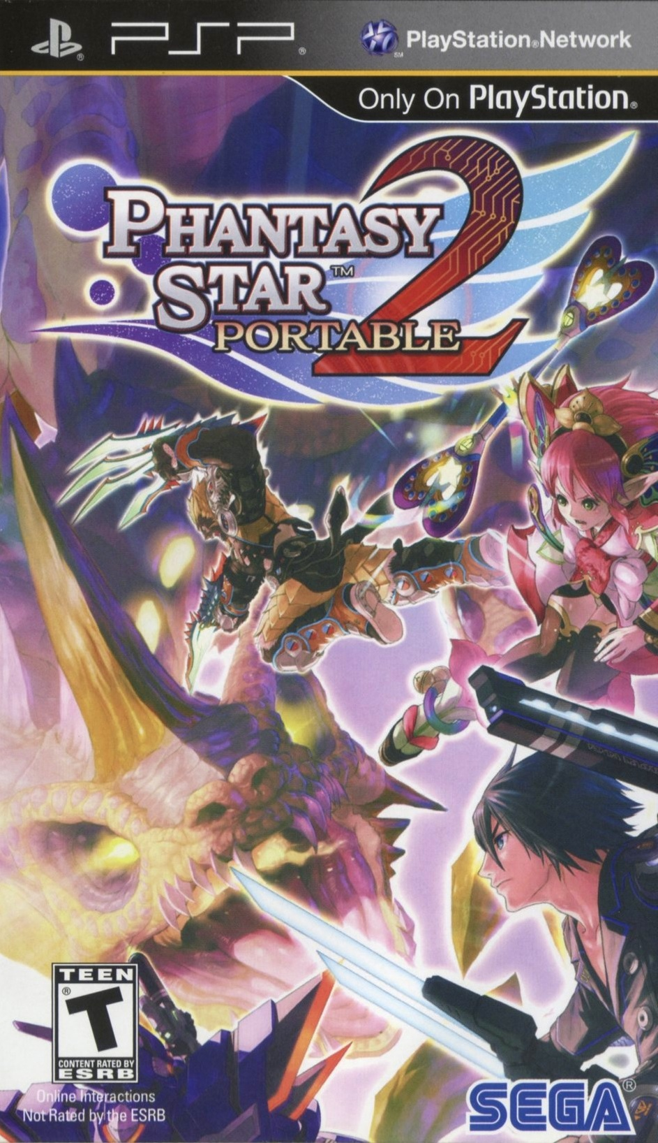 Phantasy Star Portable 2 Cover