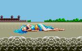 Maia ashore