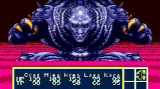 Phantasy Star 3 fight with Dark Force