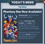 Sega heroes phantasy star update