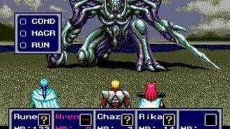 Phantasy Star IV - Boss 17 Dark Force, final encounter