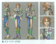 Elly game model poses