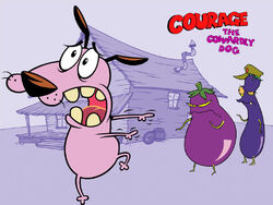New courage the cowardly dog wallpaper