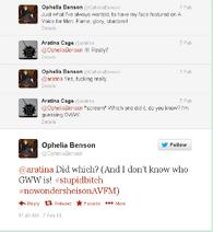 Ophelia calls GWW a stupid bitch
