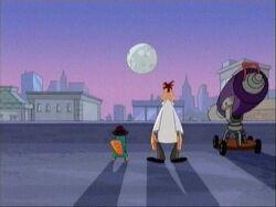 Perry e Doof luna