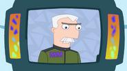 Doofenshmirtz is attending an evil scientist's convention