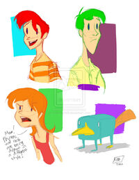Diff Phineas and Ferb, by animegirl43