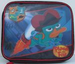 Agent P blasting off - 2011 Toys R Us lunchbox