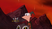 Phineas Isabel frowns