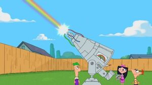 Rainbowinator firing