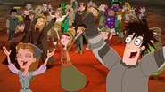 S04E25a Party guests cheering