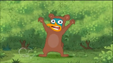 Perry in bear costume