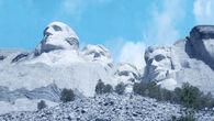 Pre-construction Mount Rushmore
