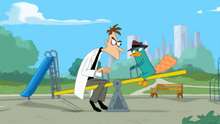 Doofenshmirtz and Perry on Seesaw