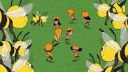 Fireside Girls amongst bees