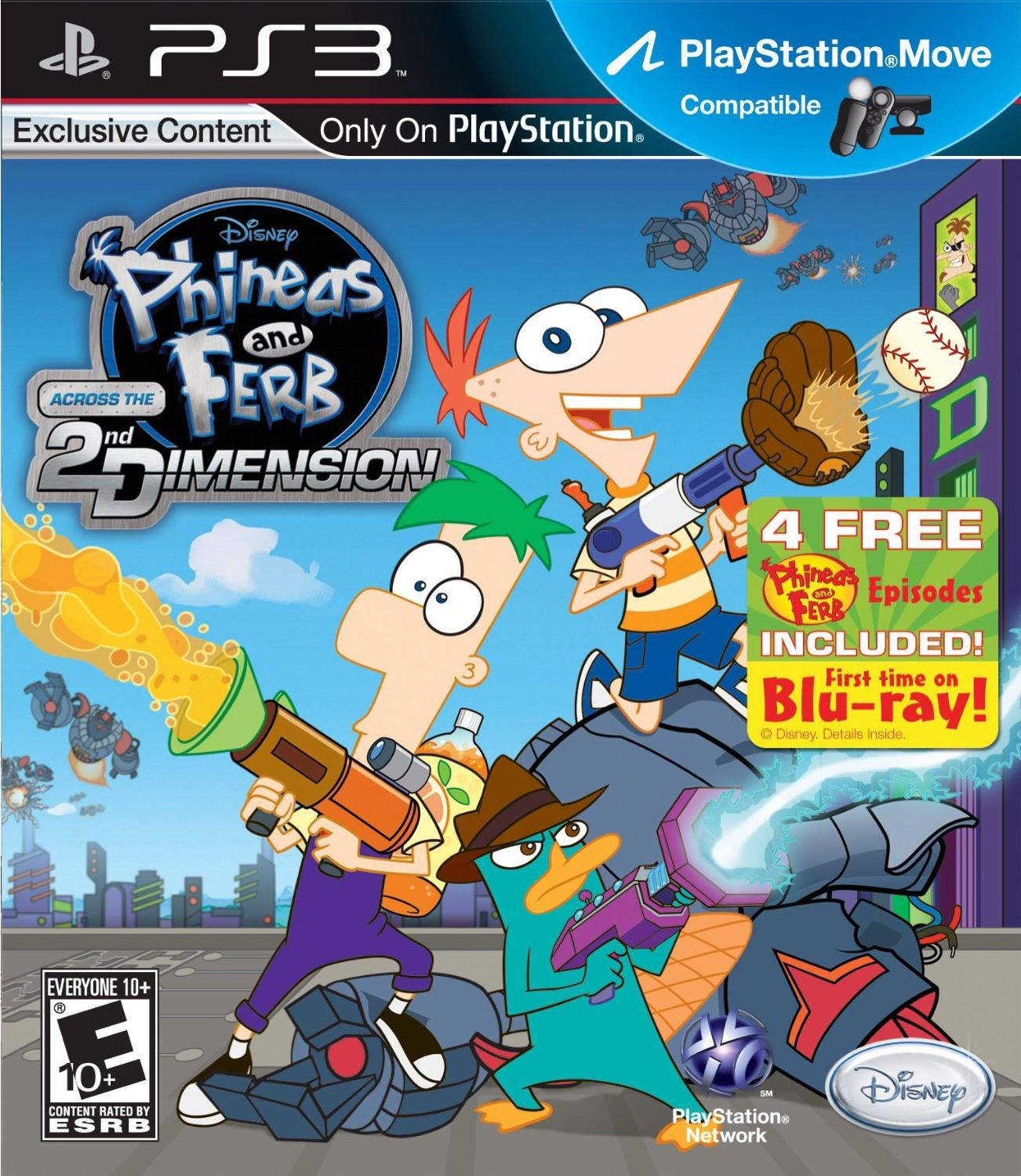 image across the second dimension ps3 jpg phineas and ferb