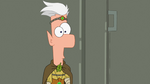 Ferb lowers his finger