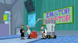 Doofenshmirtz destroy Rodney's inator