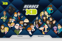 Heroes of XD title screen