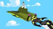 Suit Crashes Into Khaka's Ship