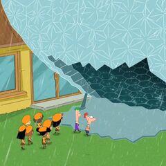The children enter the Biodome.