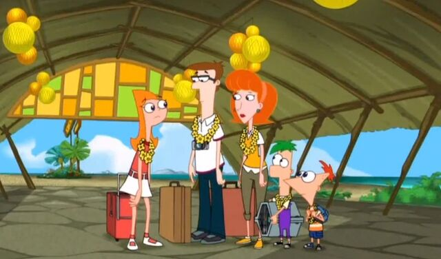 File:The entire family outside the hotel.jpg