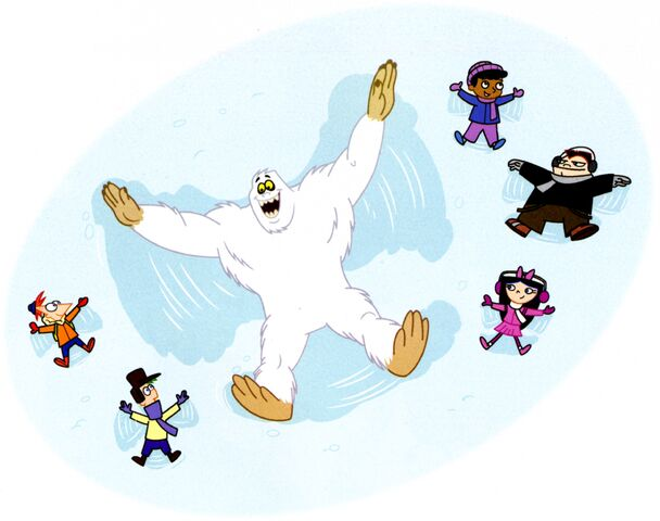 File:Yeti snow angel.jpg