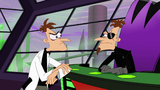 Cuts back to 2nd Dimension Doofenshmirtz's Office along with the original Doofenshmirtz
