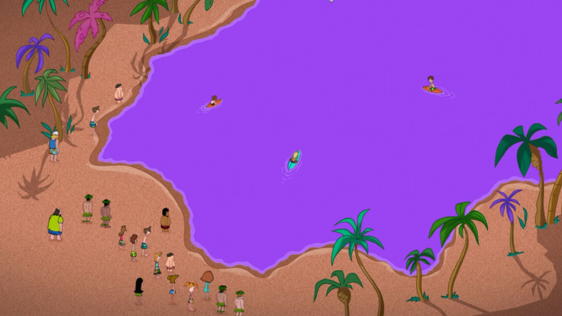 image backyard beach water receding jpg phineas and ferb wiki
