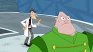 Doof tries to consult the REGURGIATOR